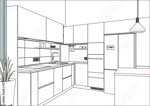 kitchen designer software breakfast nook ideas for small 3d vector sketch modern design in home interior
