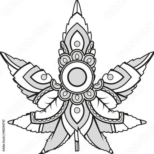 40 Tribal Flower Vectors