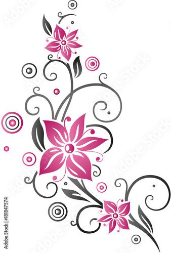 Ausmalbild Blumenranke Wohnkultur Frisur Und