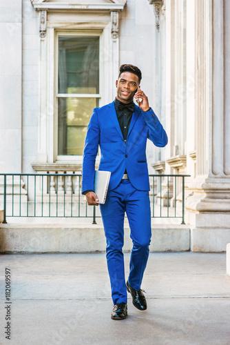 african american businessman works