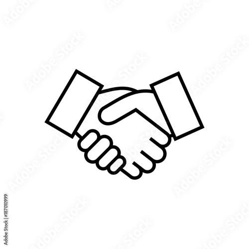 Handshake sign. Handshake icon simple vector illustration
