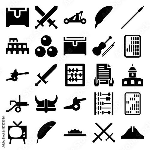 antique icons set of