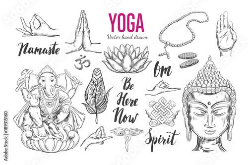 yoga set vector isolated