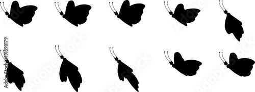 animation sprite sheet, loop animation, butterfly, flying