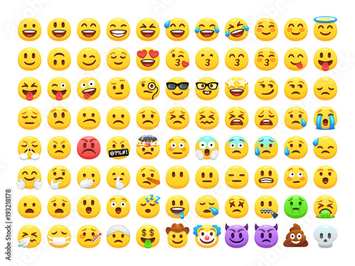 funny cartoon yellow emoji