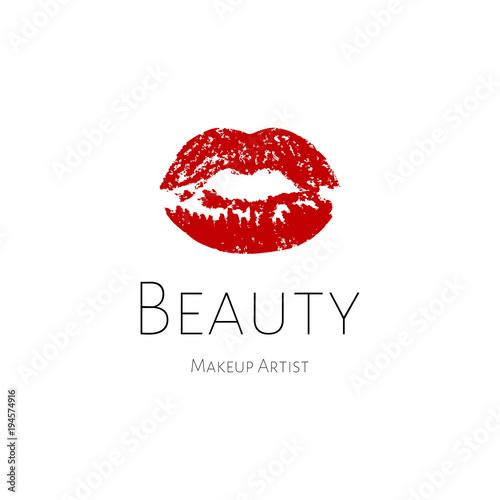 lips logo red print