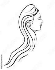 beauty salon women design outline