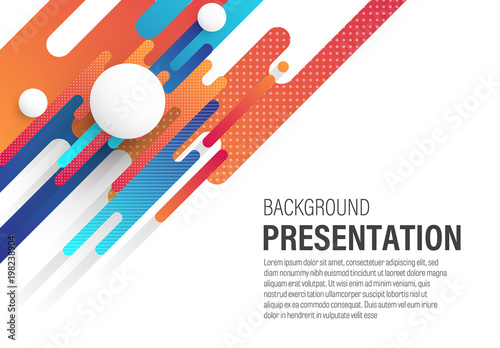 presentation background with rounded