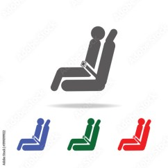 Chair Design Icons Outdoor Bar Height Chairs Passenger Seat Airplane Icon Elements Of Airport Multi Colored Premium Quality Graphic Simple For Websites Web