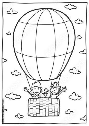 Heißluftballon Malvorlage