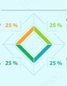 Percentage rhomb diagram template business data graph chart design creative concept also rh stockobe