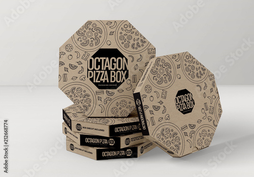 stacked octagon shaped pizza