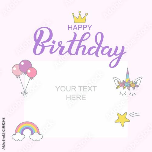 happy birthday typographic vector