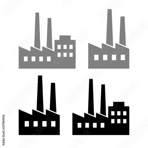 factory vector icons on