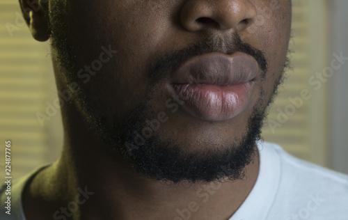 male lips close up