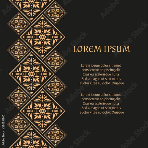 luxury background vector gold black
