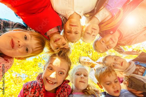 bottom view of kids