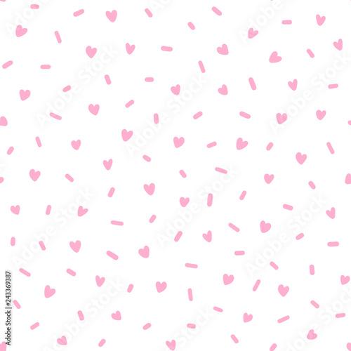 hand drawn cute pink
