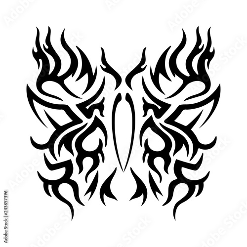 tattoo tribal design stylized