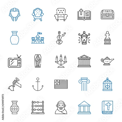 antique icons set buy