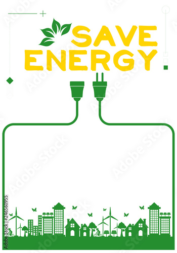 Save Energy Poster Buy This Stock Vector And Explore Similar Vectors At Adobe Stock Adobe Stock