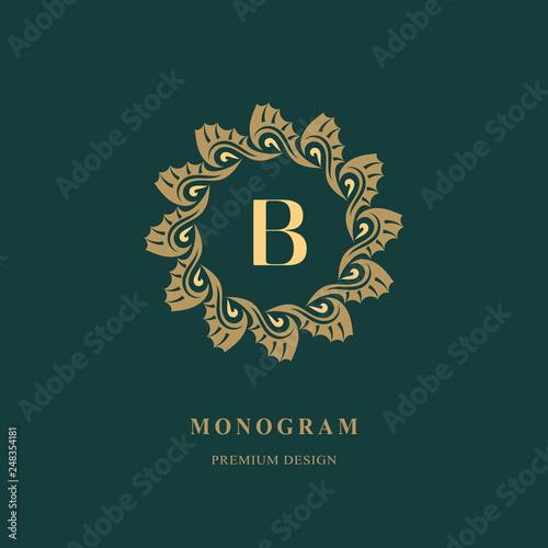 art logo design capital letter b