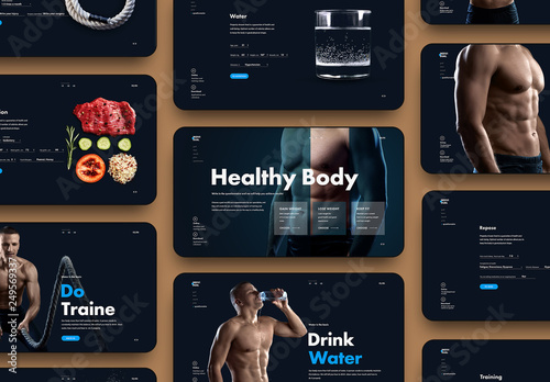 Fitness Website Layout Buy This Stock Template And Explore Similar Templates At Adobe Stock Adobe Stock