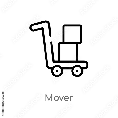 outline mover vector icon