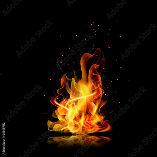 fire flame black background