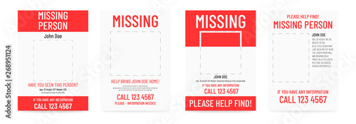 missing poster template person lost