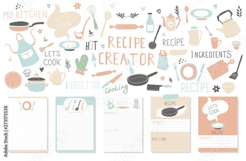 modern recipe card template