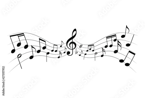 music notes icon sheet