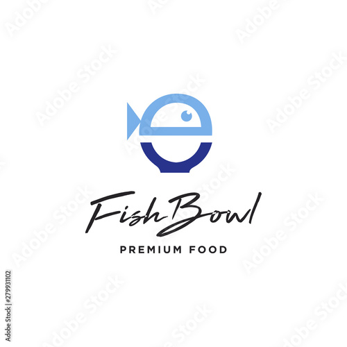 Fish Bowl Food Logo Icon Vector Template Buy This Stock Vector And Explore Similar Vectors At Adobe Stock Adobe Stock