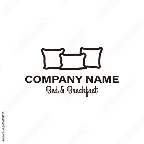 creative premium pillow furniture logo