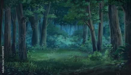 Light and forest Night Anime background Illustration Buy this stock illustration and explore similar illustrations at Adobe Stock Adobe Stock