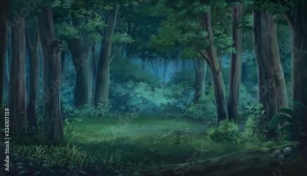 Night Anime Background