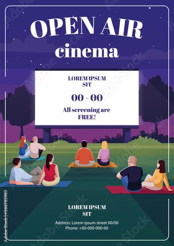 open air cinema poster template