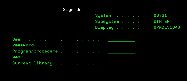 sign-on
