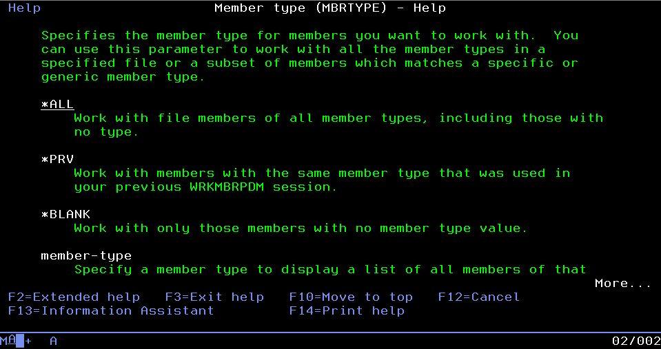 HELP - Member type