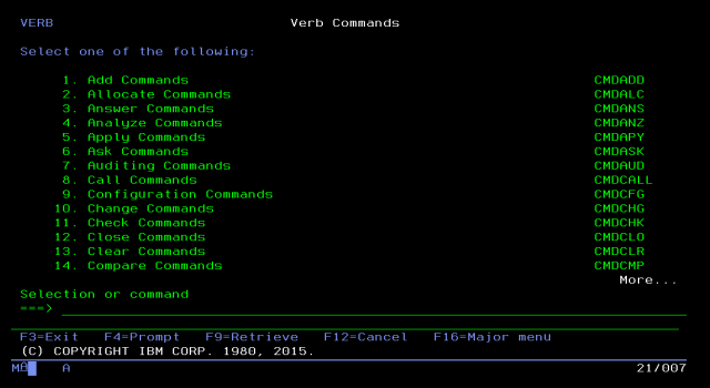 GO VERB AS400Command