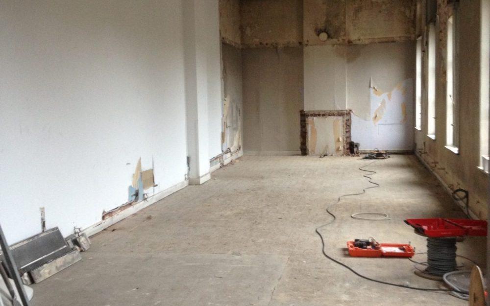 Renovatie Pianozaal voor foto