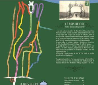 Plan des axes routiers du Bois de Cise
