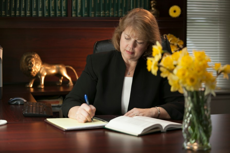 Attorney Andrea S. Anderson, Esq. Working on a Client File