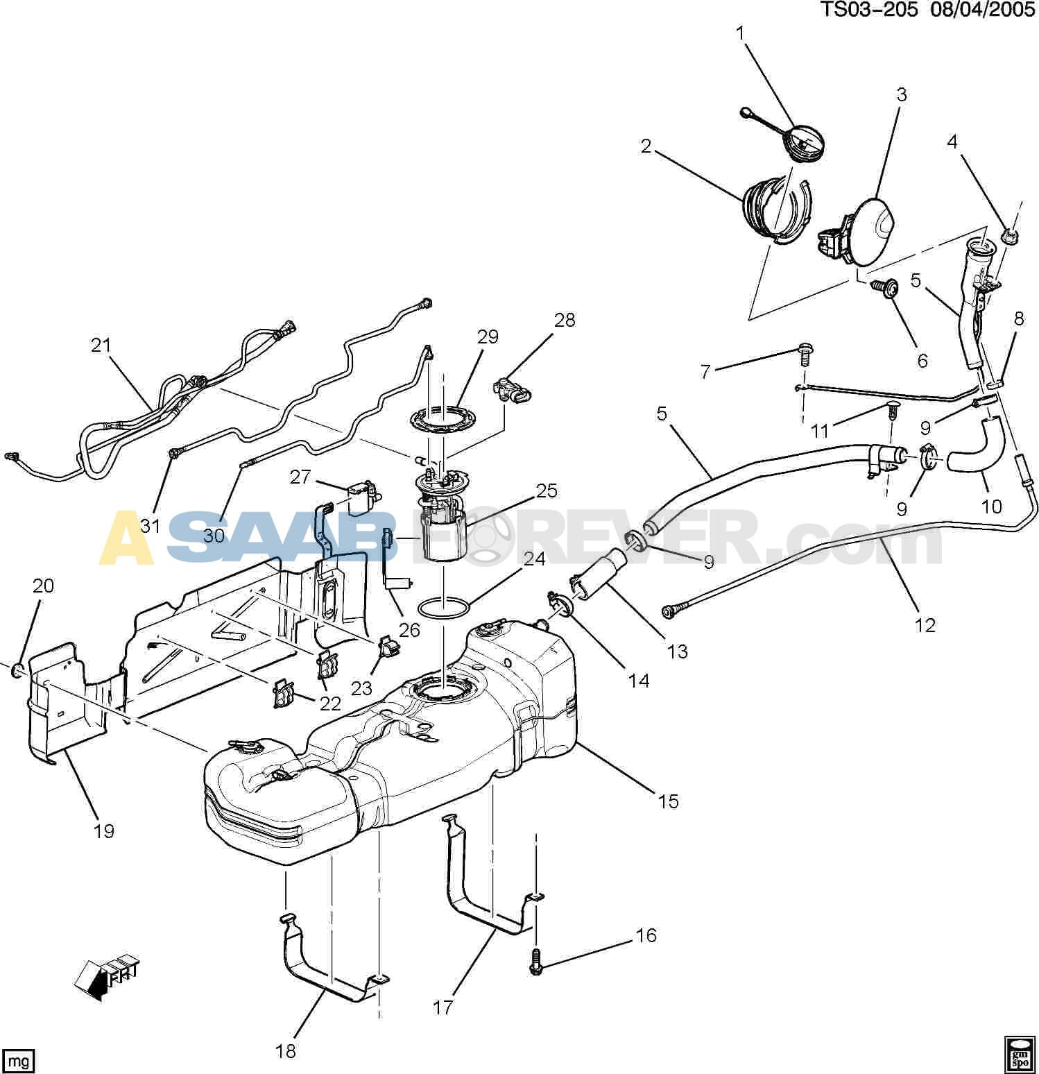 SAAB Manual Trans Shift Knob Emblem (5 Speed