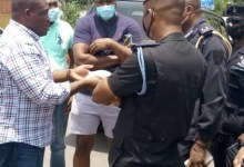 Sam George MP argues with police at City Escape Hotel, Accra