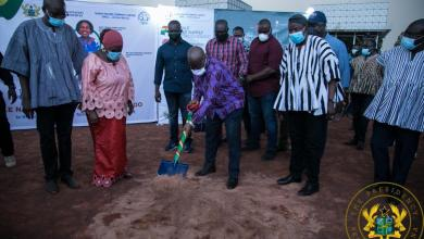 Akufo-Addo (with Cecilia Dapaah) launches construction of Tamale Water Supply Project