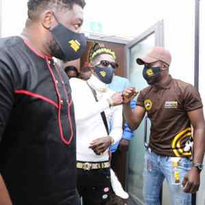 Asaase Sound Clash, Shatta Wale + Bulldog near entrance