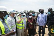 President Akufo-Addo at the Axim Sea Defence Wall