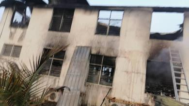 Photo of Fire guts EC Greater Accra office in Sapeiman