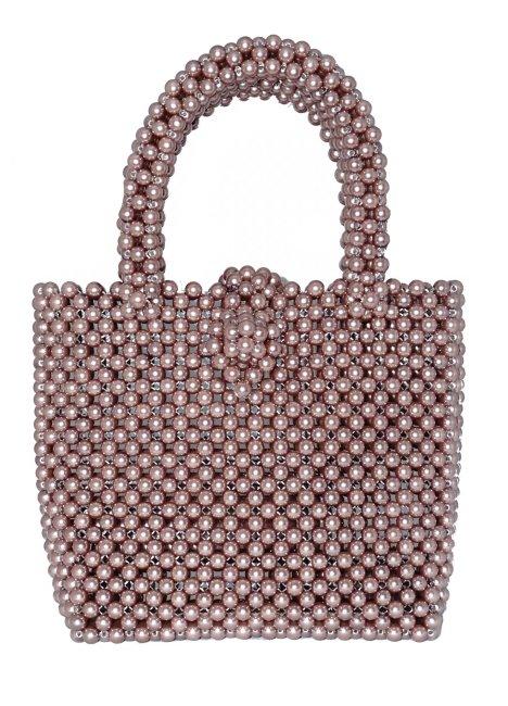 Beads: clutch bag, ivory